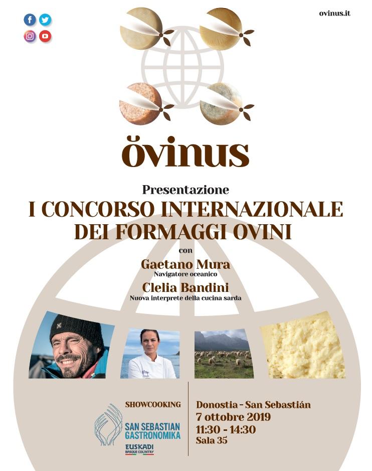 San Sebastián, 7 ottobre: presentazione internazionale di OVINUS – 1° Concorso internazionale dei formaggi ovini
