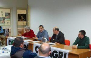 Copagri, presidente regionale Cirronis, Direttore regionale Tandeddu, Presidente provincia di Cagliari Bullegas